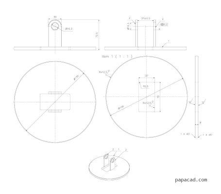 DIY pipe lifting clamp DWG drawings