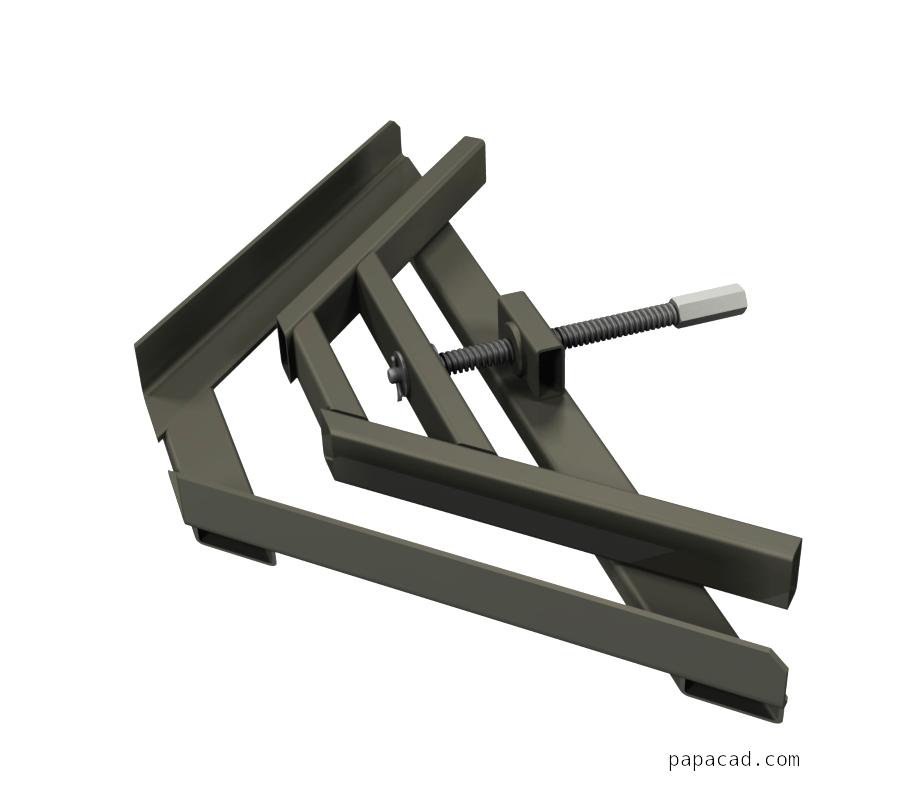 Welding Clamp - CAD design of 90 deg