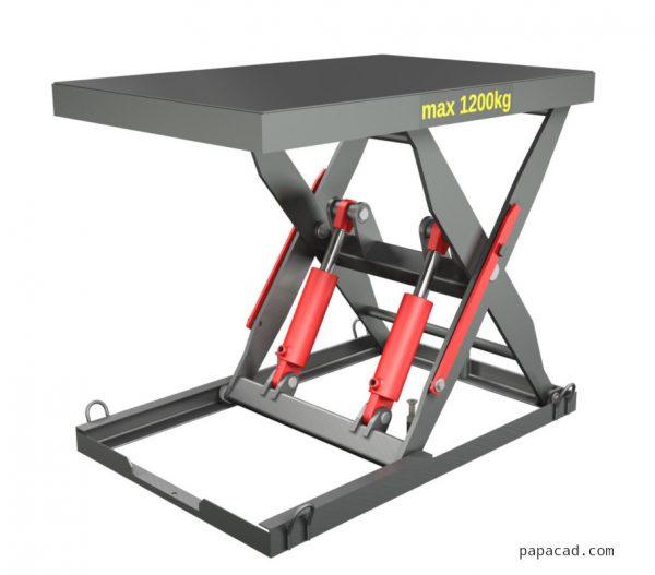 Drawings Hydraulic scissor table lifter