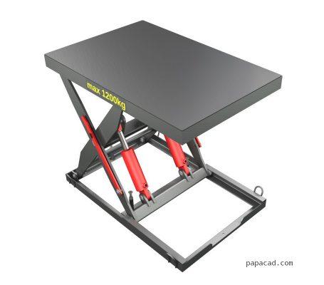 Hydraulic scissor table lifter