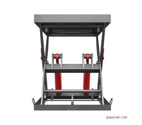 Hydraulic scissor table lifter calculations