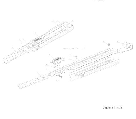 Knife 3D drawings