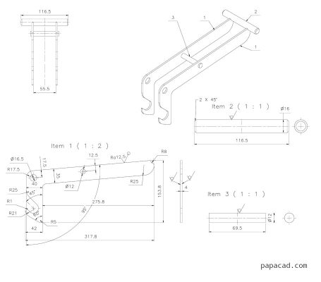 Lifting device design with drawings