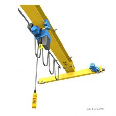 Overhead crane design 2D drawings