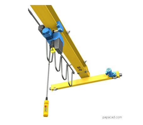 Overhead crane design 2D drawings