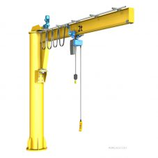 Pillar Jib Crane DIY CAD model