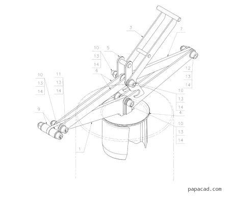 Pipe lifting clamp drawings