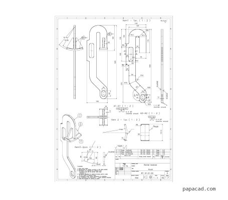 Ratchet tensioner dimensions on pdf drawings