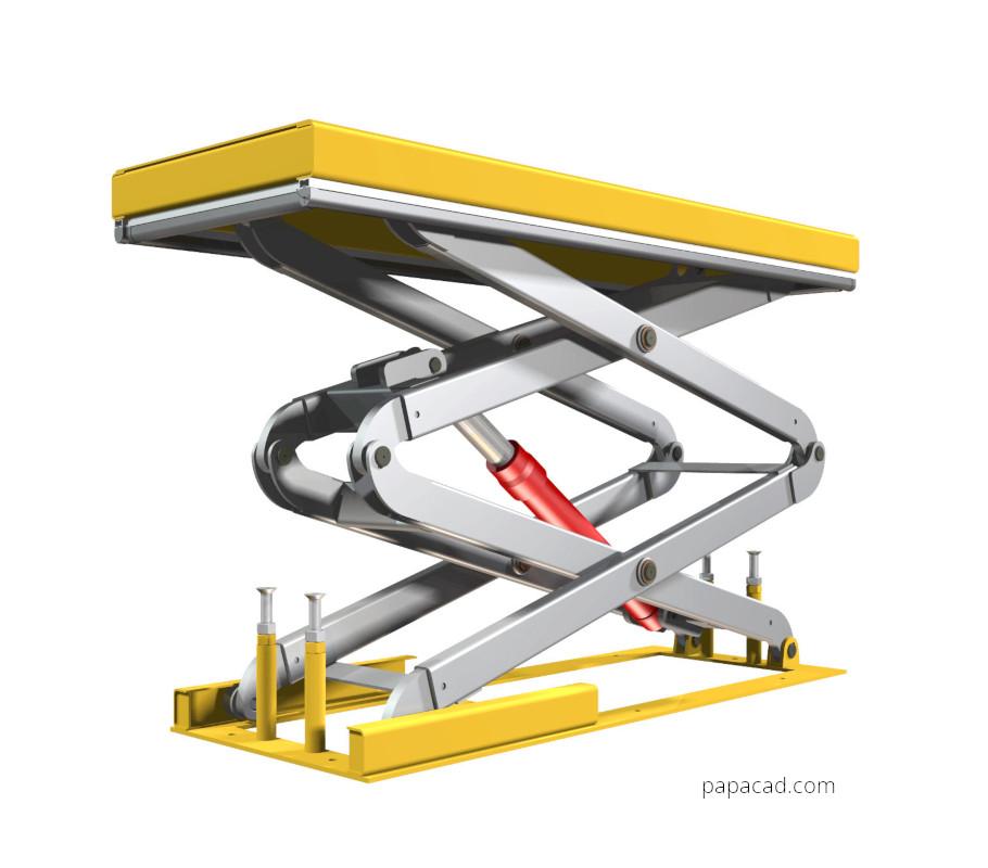Scissor lift table plans 1000kg