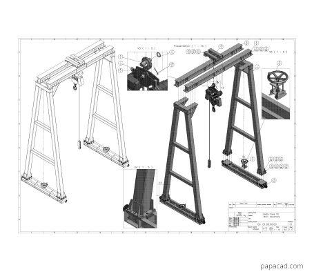 DIY gantry crane plans papacad