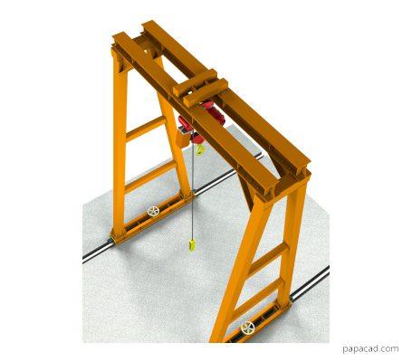 Gantry crane design pdf with 3D models papacad.com