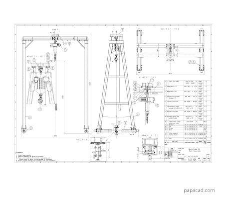 Gantry crane plans pdf from papacad