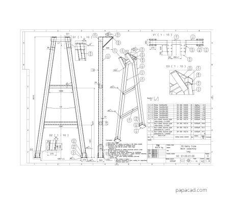 Gantry crane plans for print