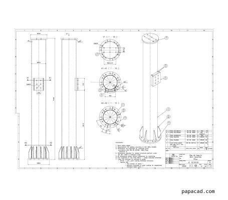 Jib crane pillar drawings