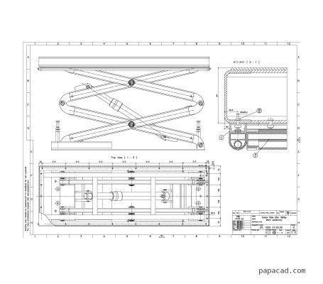 Scissor lift table pdf drawings