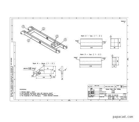 Scissor lifter design drawings