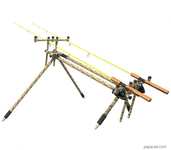 3D models fishing rod stand Diy project