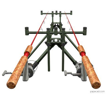 Fishing rod stand DIY 3D CAD models