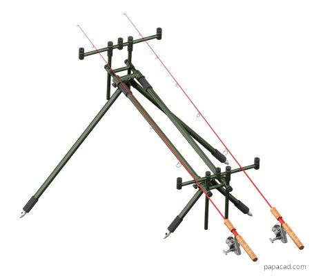 Fishing rod holders 3D model