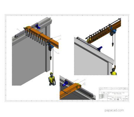 Bridge crane design PDF plans from papacad.com