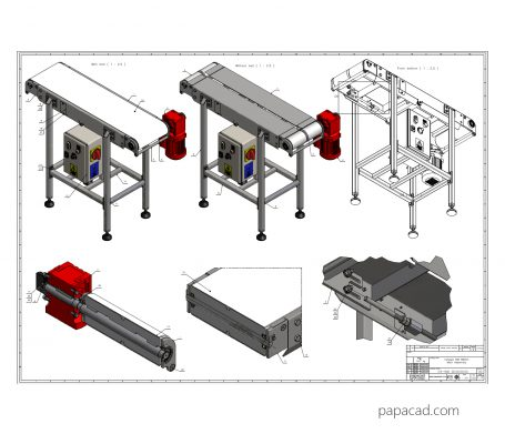 Conveyor CAD projects download