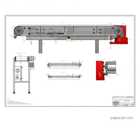 Conveyor belt Free CAD projects