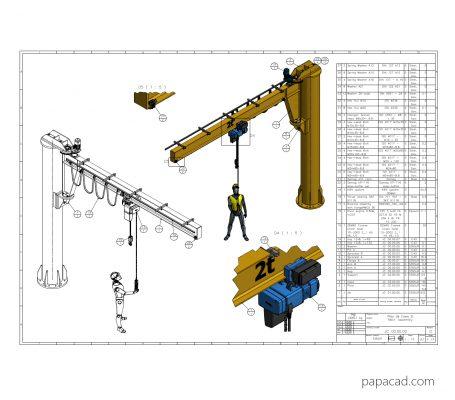 DIY Pillar Jib Crane