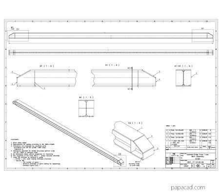Girder crane plans papacad.com