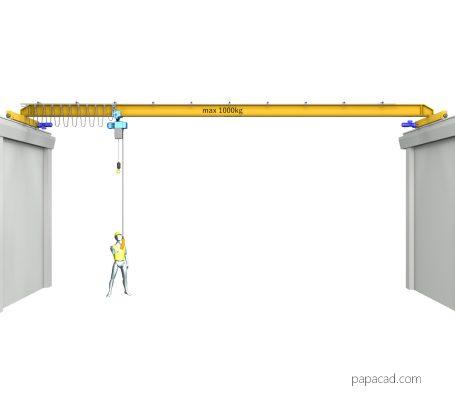 Overhead crane 3D model CAD from papacad.com