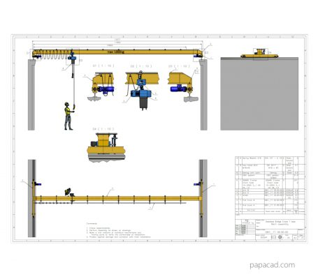 Overhead crane CAD drawings from papacad.com