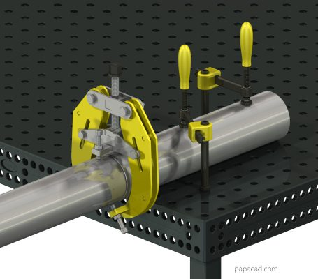 pipe clamp for welding plans from papacad