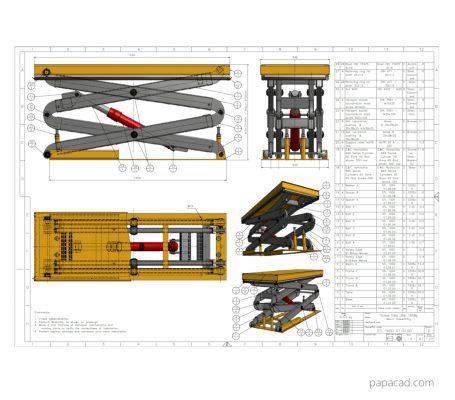 Scissor lift design download