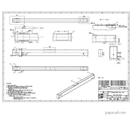 Single girder crane drawings papacad.com