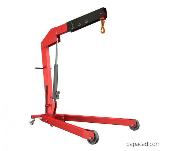 Diy foldable hydraulic crane