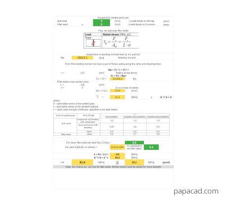 Hydraulic crane calculations papacad