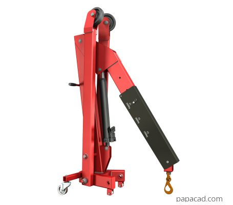 Hydraulic crane project CAD