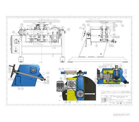 Welding positioner design 2D drawings