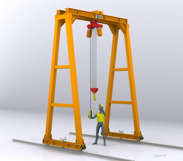 gantry crane plans papacad.com