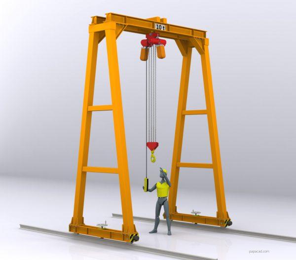 gantry crane plans papacad.com