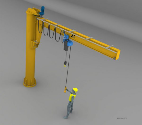 Jib crane CAD project for download