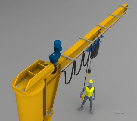 Pillar Jib Crane 3D model