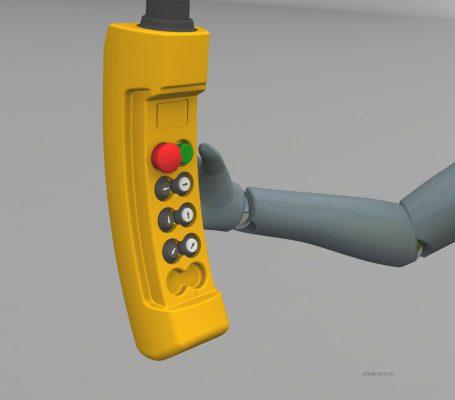 Pillar jib crane design 3D