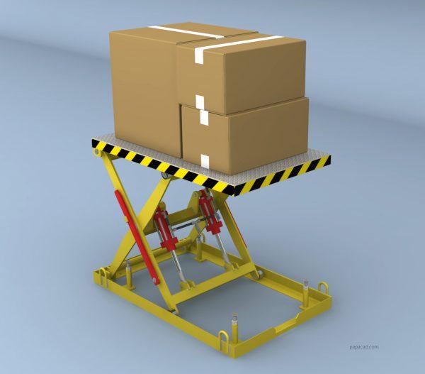 Scissor lift design Inventor 3D