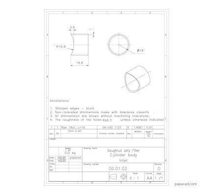 DIY Jelly Filler plans 2D CAD
